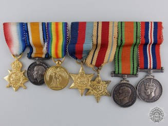 Two British Miniature Medal Groups