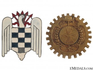 Two early Franco period Falange Badges