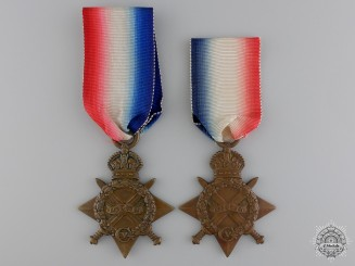 Two First War British 1914-15 Campaign Stars