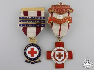 Two First War British Red Cross Medals & Awards
