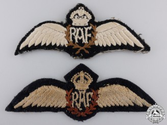 Two Second War Royal Air Force Wings