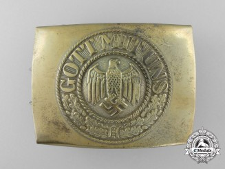 A Kriegsmarine Enlisted Buckle by Christian Theodore Dicke