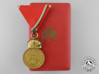 A 1922  Hungarian Signum Laudis Medal with Case