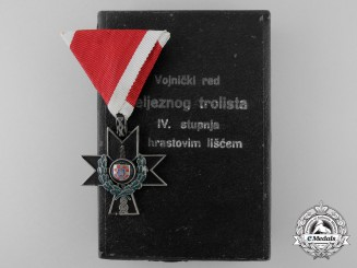 A Second War Croatian Order of Iron Trefoil with Oakleaves for Gallantry in Action