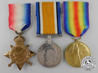 A First War Medal Trio to the 7th Infantry Battalion; Canadian Cavalry Brigade