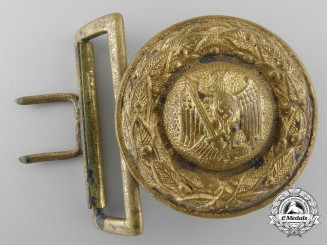 """A Prussian State Forestry Official's Belt Buckle in Gold for the """"B"""" Tunic; Published"""