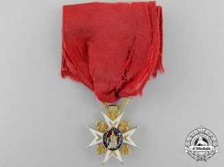 An Exquisite French Order of St. Louis in Gold; Reduced Size Knights Cross 1814-19