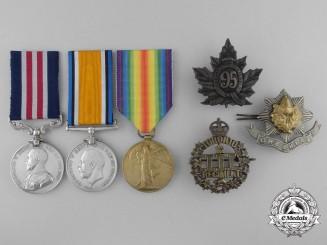 A Canadian 3rd Battalion Military Medal Group for Souchez Trench Raid 1916