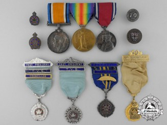 A First War Medal Pair to Captain Titus; 97th Algonquin Rifles