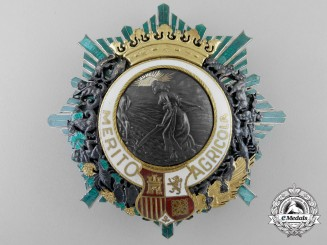 A Spanish Order of Agricultural Merit c.1930