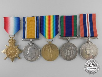 A First War Medal Group to the 1st Canadian Infantry Battalion CEF