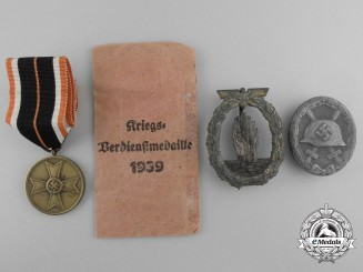 Three Second War German Awards & Badges