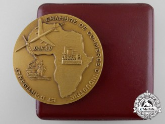 A French West Africa Dakar Industry and Crafts Award 1966-1968 to Ambassador Karl Wolf