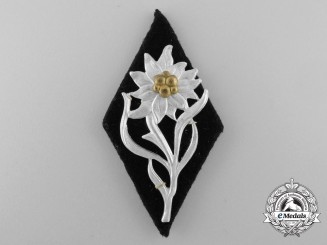 An NSKK Mountain Troops Cap Badge; RZM Tagged