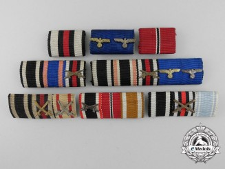 Eight Imperial and Second War German Ribbon Bars