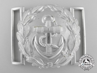 A Kriegsmarine Administrative Official's Belt Buckle by Friedrich Linden; Published