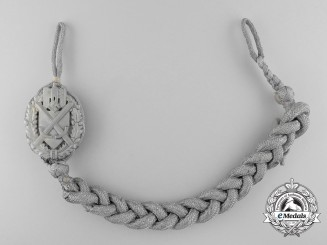 A German Army Shooting Lanyard; First Type Grade I