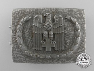 A 1938 Pattern German Red Cross (Deutsches Rotes Kreuz) NCO/Enlisted Belt Buckle