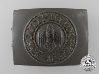 A German Army (Heer) Enlisted Man's Belt Buckle by Robert C. Dold, Offenburg (RODO)