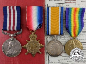 A Military Medal Group to Corporal/Temporary Sergeant (Sapper) F.E. Warner, 55th Company, Royal Engineers