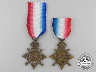 Two First War 1914-15 Campaign Stars