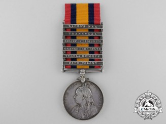 A Queen's South Africa Medal to Acting Bombardier J.F. Smith
