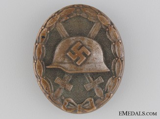 Wound Badge; Silver Grade - Marked