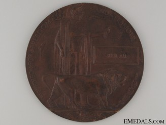 WWI Memorial Plaque to Indian Sher Ali
