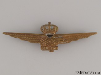 WWII Air Force Pilot's Badge, c. 1940
