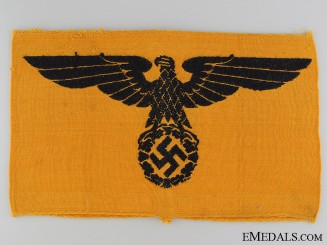 WWII German Civil Service Cotton Armband