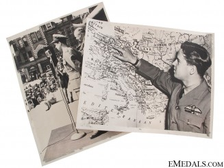 WWII Period Photos of Guy Gibson VC - Dam Busters