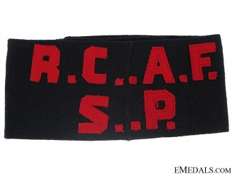 WWII Royal Canadian Air Force Service Police Armband