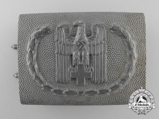 A 1938 Pattern Red Cross Enlisted Man's Belt Buckle by Overhoff & Cie, Ludenscheid