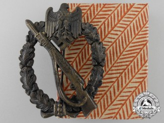An Infantry Assault Badge; Bronze Grade with Box of Issue