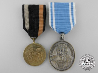 Two Prussian Commemorative War Medals