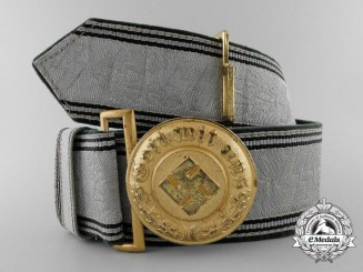 An SS Police Generals Dress Brocade & Buckle; Published Example