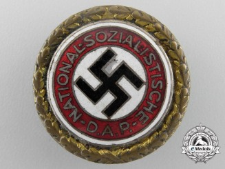 A Large NSDAP Golden Party Badge, Numbered