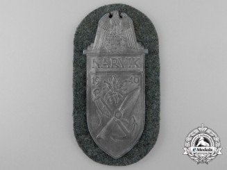 An Army Issued Narvik Campaign Shield
