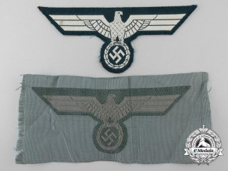 Two German Army Breast Eagles