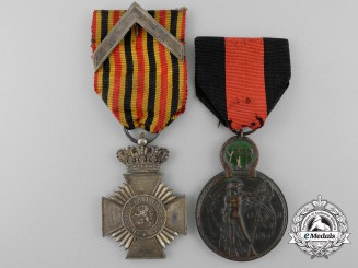Two Belgian Medals and Decorations