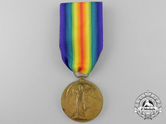 A Victory Medal to the 15th Infantry Battalion; Wounded at Vimy Ridge and Hill 70