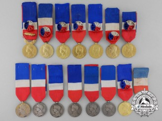 Fifteen French General Honour Medals