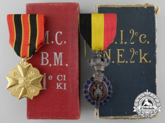 Two Belgian Medals & Decorations with Cases of Issue