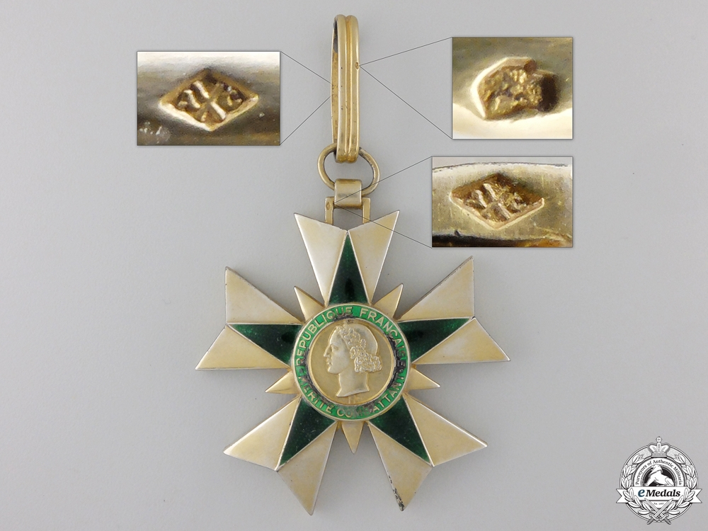 A 1953-63 French Order of Merit for Combatants; Commander's