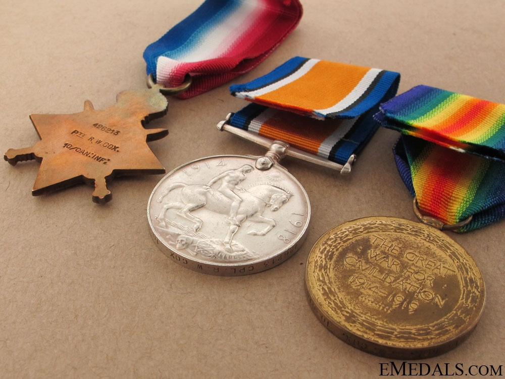 A 10th Battalion Trio - Wounded at Ypres