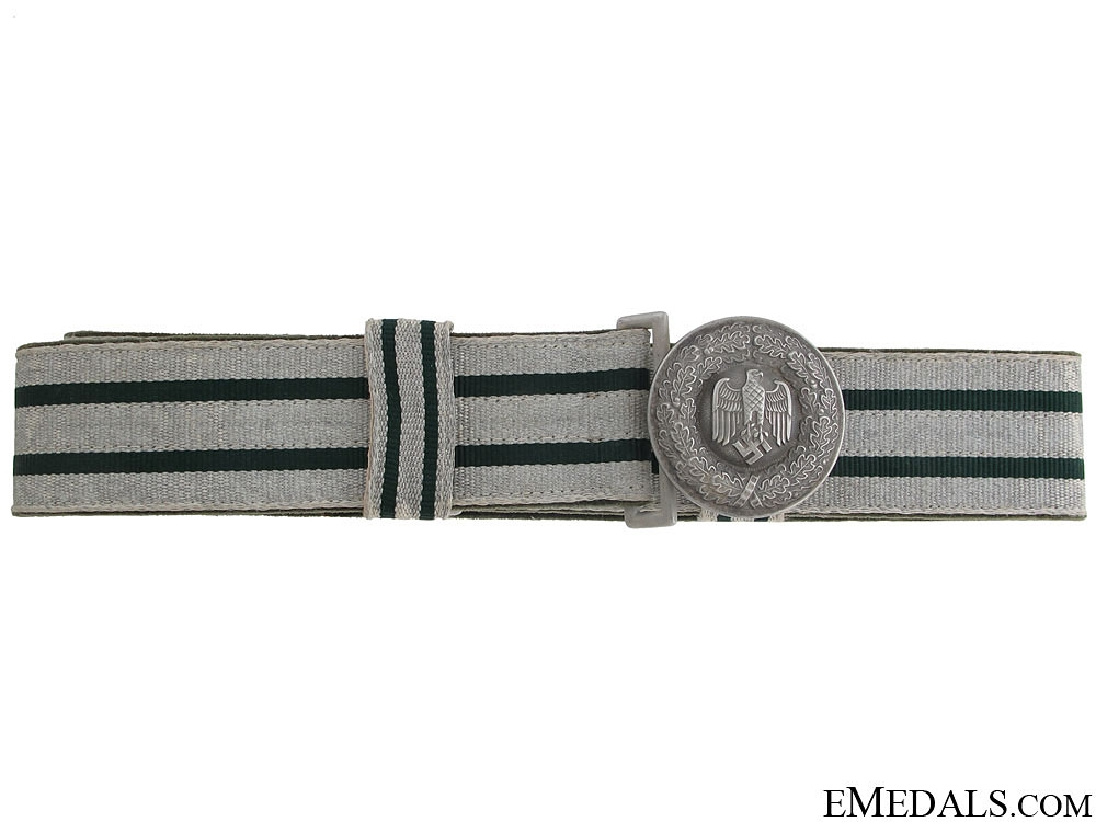 Army Officer's Brocade Belt and Buckle