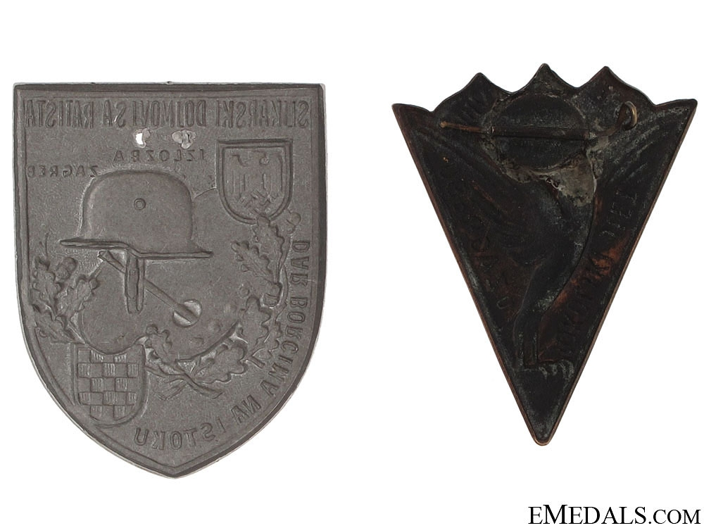 Two Croatian WWII Period Badges