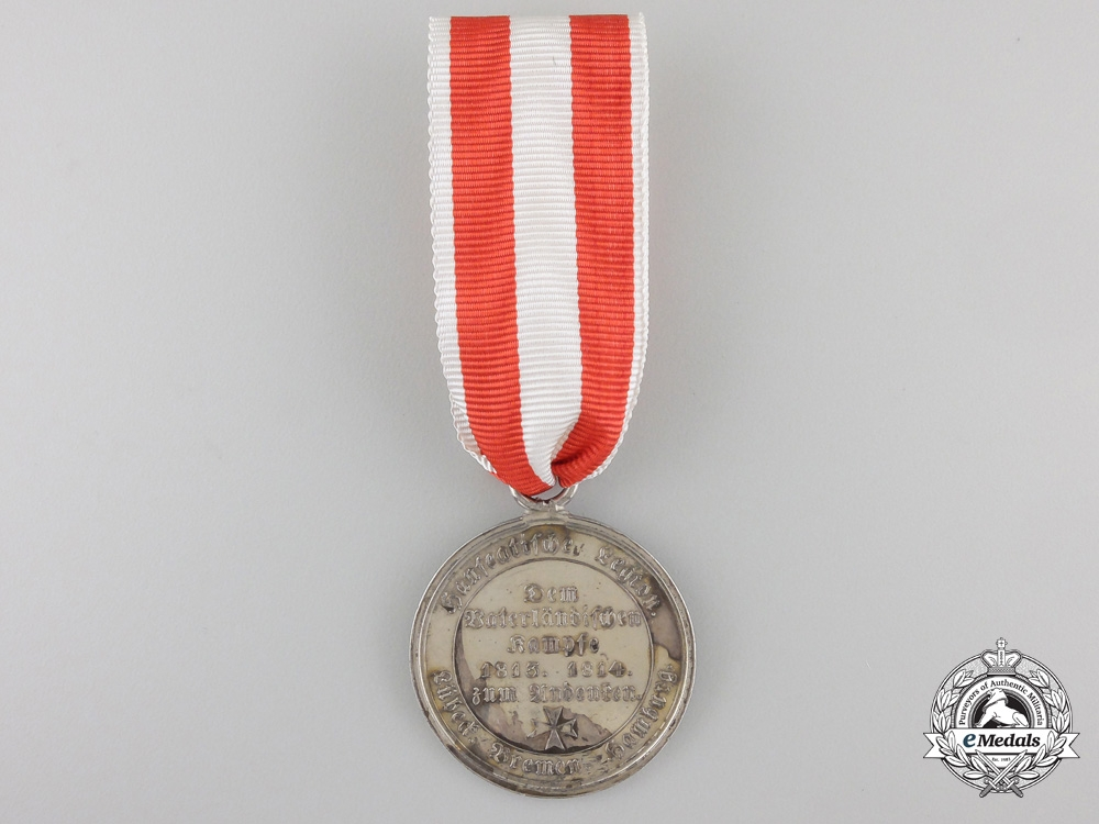 A Hanseatic Cities Napoleonic Campaigns Medal1815