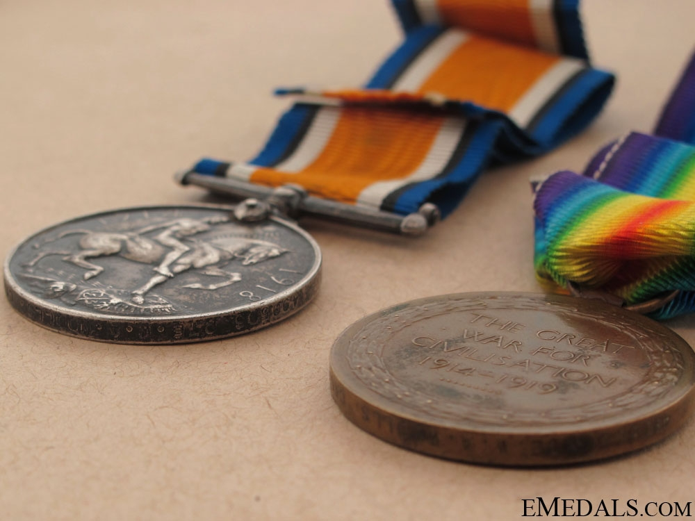 WWI Pair to the Canadian Pioneer Battalion
