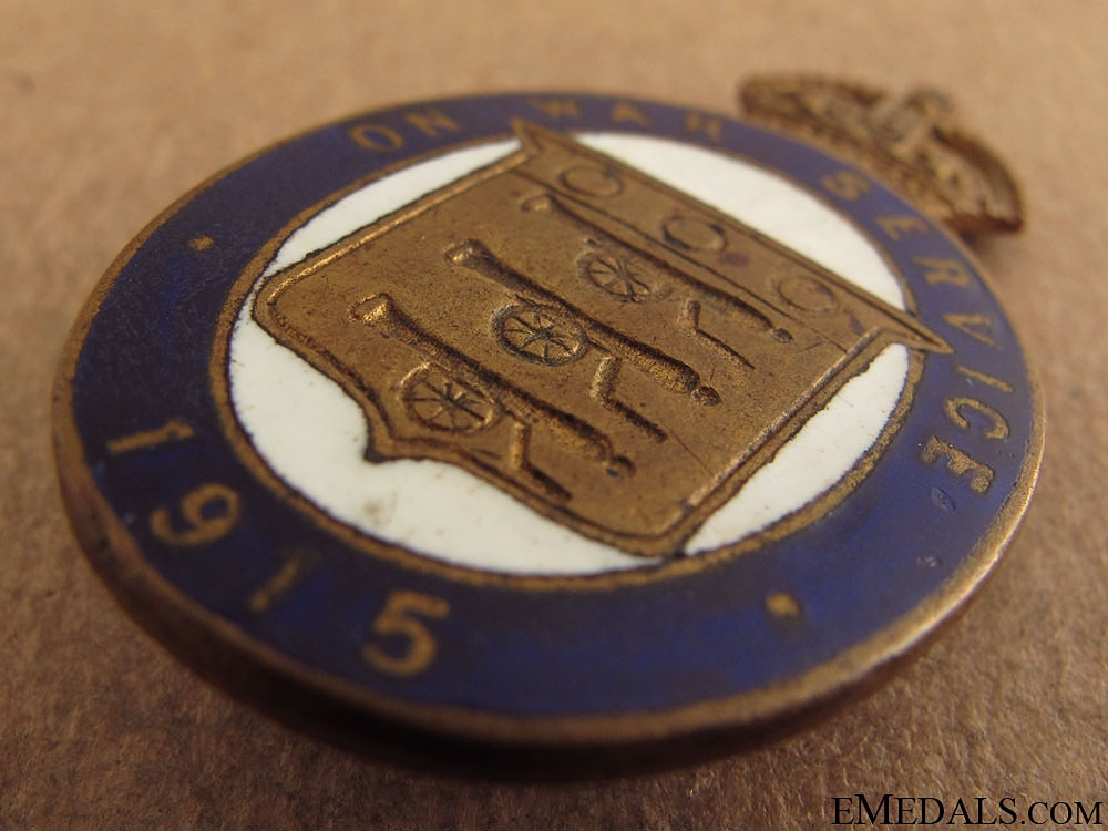 WWI On War Service 1915 Munition Workers Badge